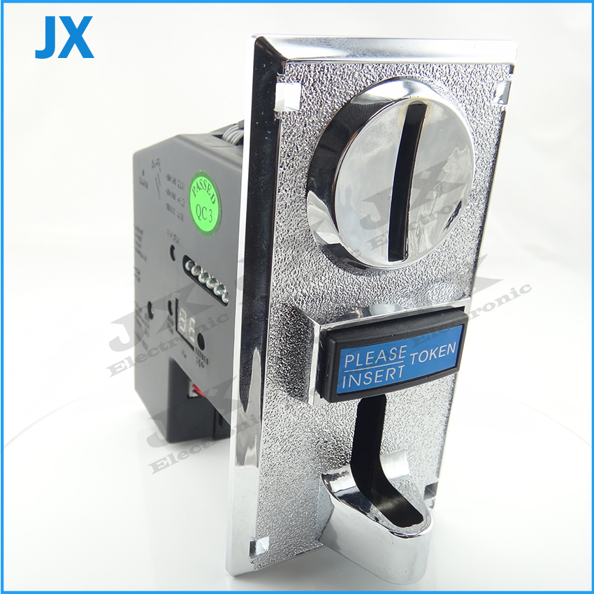 Multi coin selector acceptor for 6 different coins, support multi signal output 1 signal, arcade game machine part(China (Mainland))