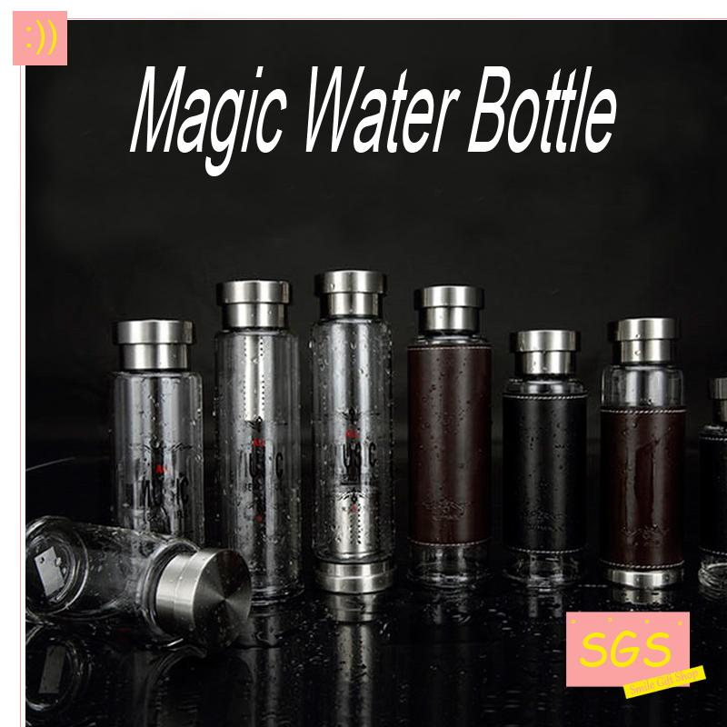 Hot Selling Magic Glass Sport Water Bottle With Protective Bag and Creative Tea Infuser Outdoor Bike Bottles Excellent Qualtiy(China (Mainland))