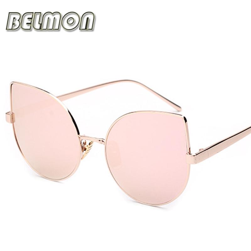 2016 Fashion Luxury Sunglasses Women Brand Designer Sun Glasses Rose Gold Trend For Ladies UV400 Mirror Lens Female Oculos RS076(China (Mainland))