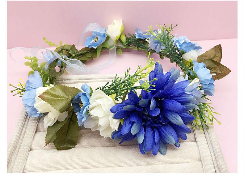 2016 New Woman handmade Sunflower Flower Crown Garland Wedding Festivals floral head Wreath Girls Bohemian Headbands