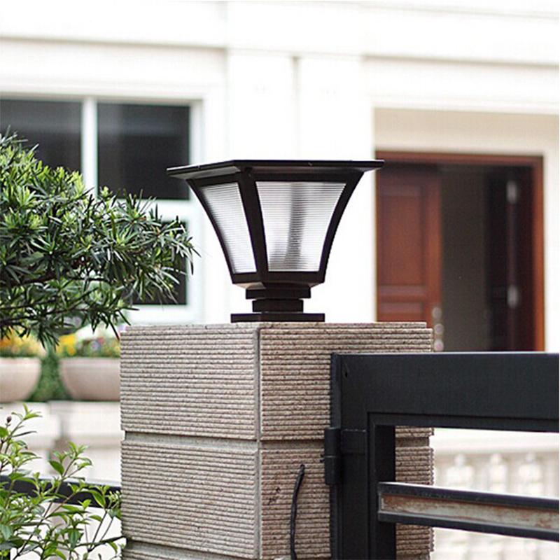 1.5W 4000mah battery solar pillar light outdoor solar fence post cap light waterproof lanscape garden solar lamp lighting SPL-02(China (Mainland))