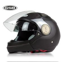 GSB motorcycle helmet GSB 246 combination helmet half 3 4 full face double lenses helmet gsb246