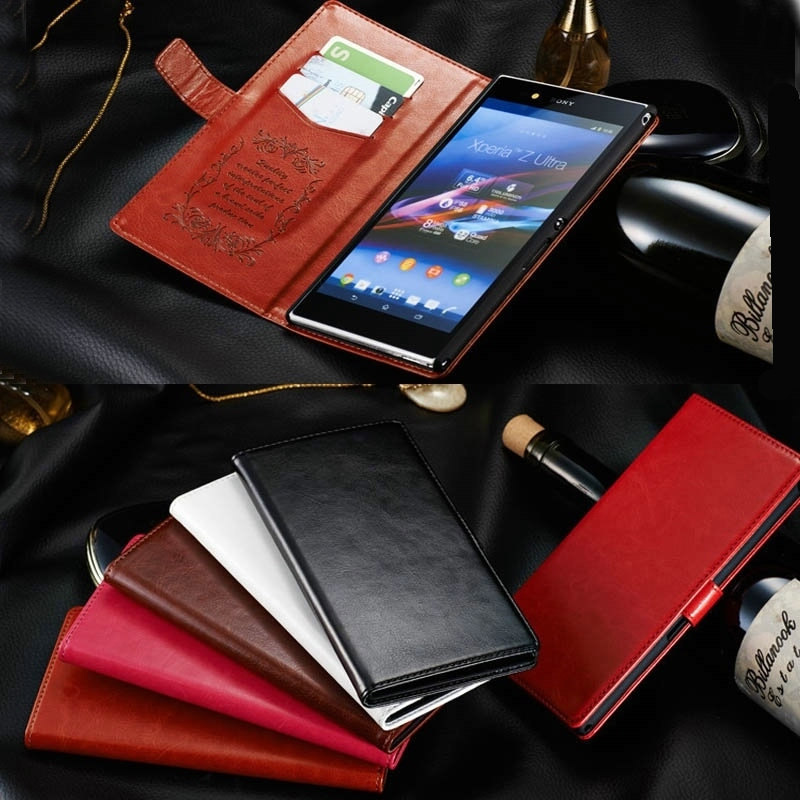 Original K-COOL Leather Case SONY Xperia Z Ultra XL39H wallet pu stand phone case cover - New Land Electronics Co store