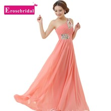 ES013 Custom Colors And Sizes One Shoulder Coral Colored And Purple Bridesmaid Dresses Cheap Bridesmaid Dresses Under 50(China (Mainland))