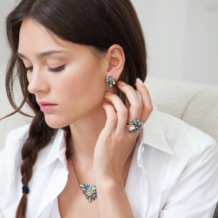Изысканный горный хрусталь ожерелье 2015 оптовая продажа новые мода тонкий цепи воротник ожерелье ювелирные изделия