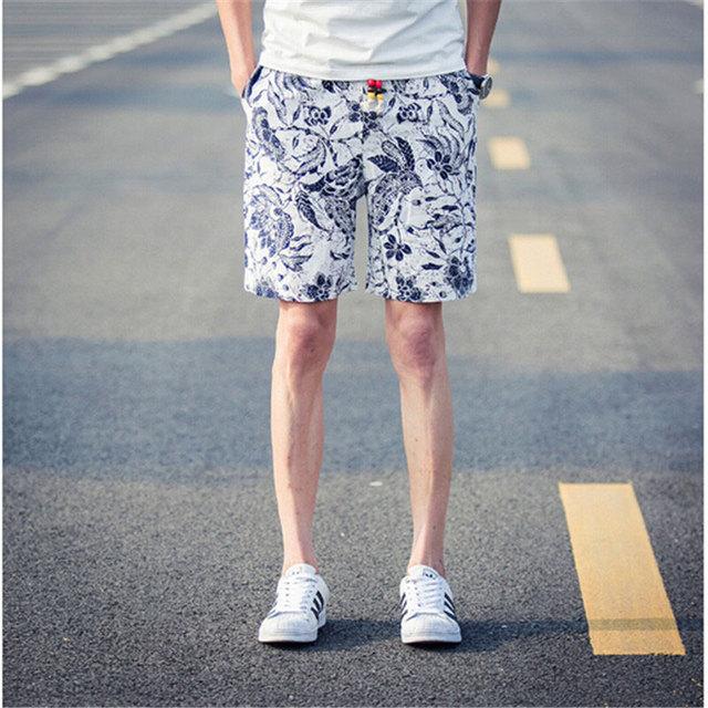 Мода мужчины печать пляжные шорты настольные короткие шорты homme быстросохнущие бермуды masculinas де marca 2016 мужчины совет по поиску шорты