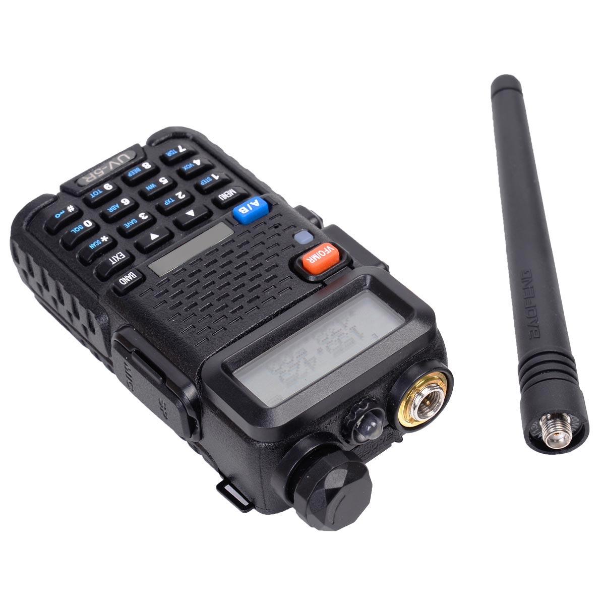 Baofeng UV-5R VHF/UHF 136-174/400-520 Dual-Band DCS DTMF CTCSS Walkie Talkies Two-way Radio EU Adapter<br><br>Aliexpress