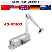 1Pcs Automatic Door Closer Standard Arm Dual Hydraulic Speed Control Adjustable Households Overhead Door Operators 45-65KG(Hong Kong)