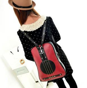 New 2015 Fashion Retro Vintage Personality Violin Shape Travel Women Backpack Designer School Backpacks Children School Bags(China (Mainland))
