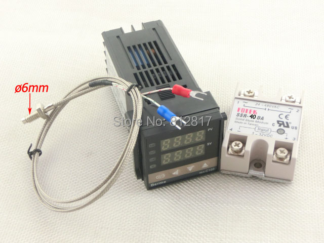 Dual Digital RKC PID C100FK02-V*AN 110-240V Solid State Relay SSR40DA Temperature Controller thermocouple K, SSR Output - Vivi store