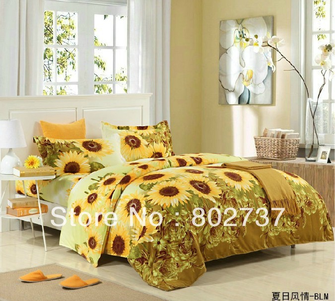 duvet cover single double quilt, active quilt sets bedding, quilt bag only, bedding bag 180cmx200cm,reactve printing(China (Mainland))