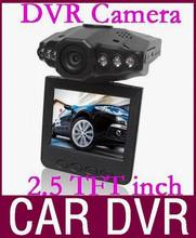 Discount promotion car dvr camera recorder with LED night vision and 2.5'' TFT Colorful Screen 20pcs/lot Free DHL(China (Mainland))