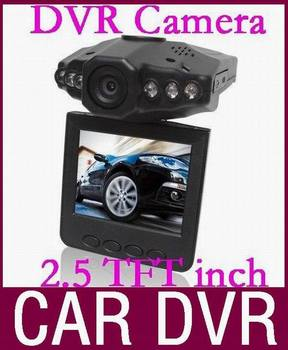 Discount promotion car dvr camera recorder with LED night vision and 2.5'' TFT Colorful Screen 20pcs/lot Free DHL