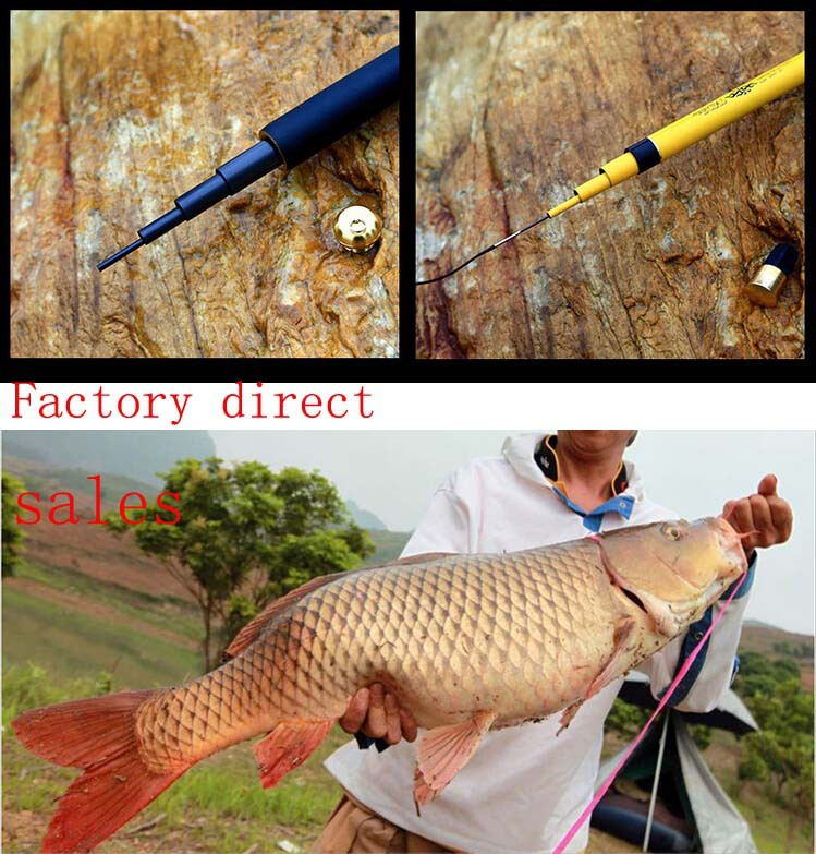 2.7M-7.2M Spinning plug Salmo sea fishing bass lure rods blanks poles Fly Rod telescopic with rings carp rod wood Fishing tackle(China (Mainland))
