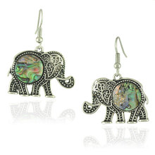 New Model Antique Silver Elephant Earrings Vintage, Beautiful Shell Earrings For Women(China (Mainland))
