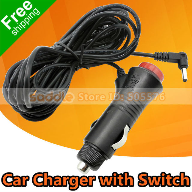 Universal Car Charger Cigarette Lighter Plug with Switch For Car DVR/GPS/Radar... with Good Quality ! Free Shipping !