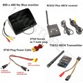 FPV Combo System 5 8Ghz 600mw boscam Transmitter and Receiver and No blue HD monitor Set