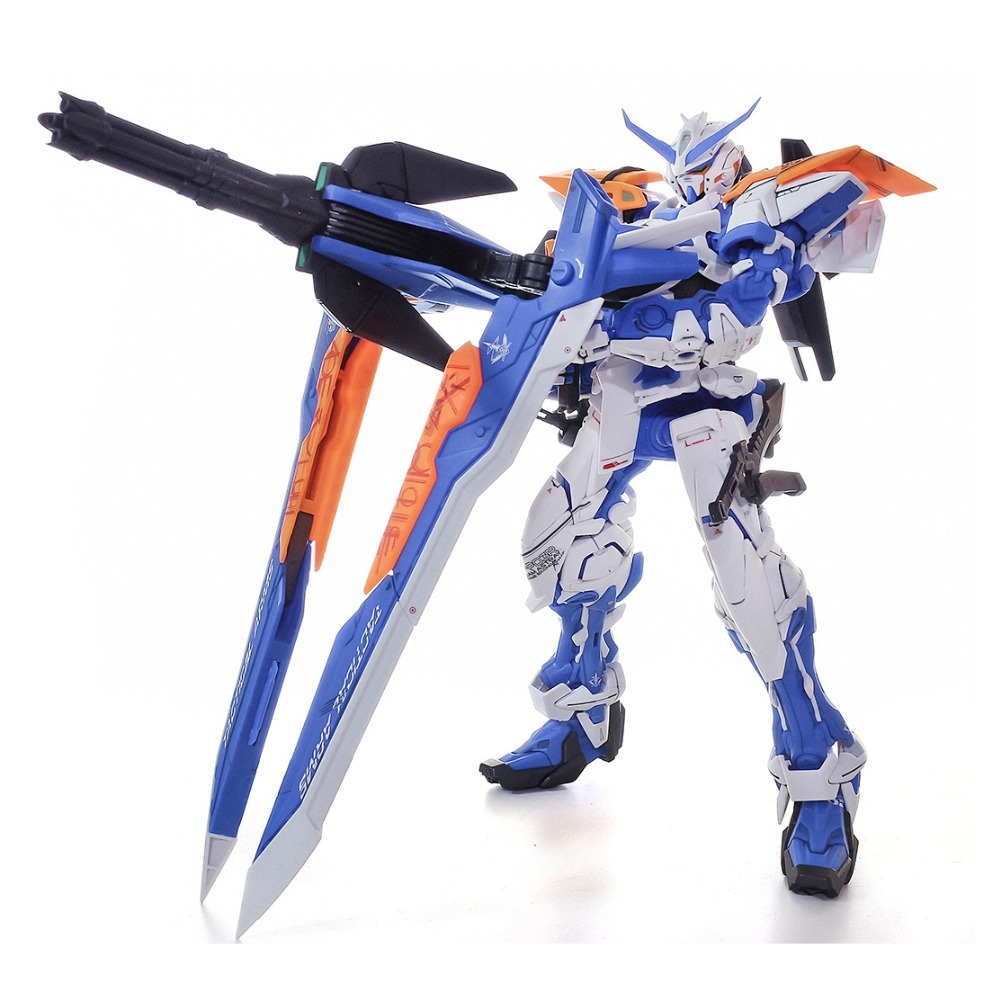 Daban Toys MG 1/100 Gundam Astray Blue Frame B Assemble Action Figure Double Sword Fighting Robot brinquedo menino attached Base()