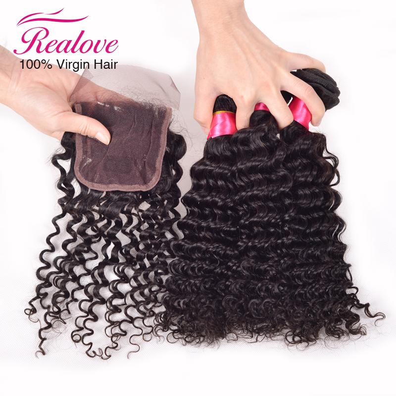 7A Peruvian Virgin Hair Deep Wave With Closure Peruvian Deep Wave With Closure 4 pcs Cheap Lace Closure With Bundles human hair<br><br>Aliexpress