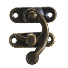Free Shipping-50 Sets Metal Hook Box Latches Clasp Box Lock Purse Lock Antique Bronze 4 Holes 27*23mm(China (Mainland))