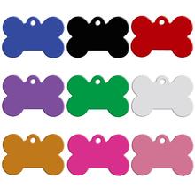 20 unids/lote Aluminio Del Animal de la Etiqueta Personalizada de Doble Cara Grabado Hueso forma de Perro Gato Mascota Nombre Número de Teléfono ID Tag Charm Personalizada(China (Mainland))