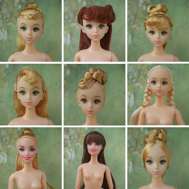 Factory Wholesales 200pcs Assort models Quality Doll Head For Barbie Dolls / Joints doll head for sales(China (Mainland))