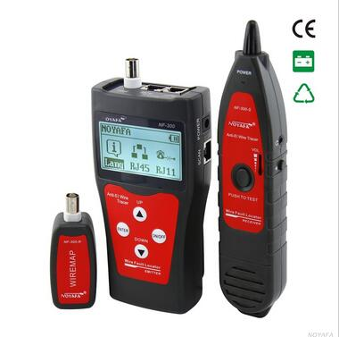 NOYAFA NF-300 RJ11 RJ45 BNC Network LAN Cable Tester Cable Errors Tester Wire Tracker Length tester Anti-interference meter(China (Mainland))