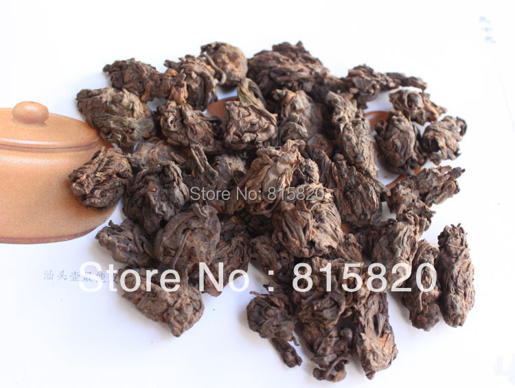 250g Top quality 2002 year old loose puer head tea old ripe loose puer tea free