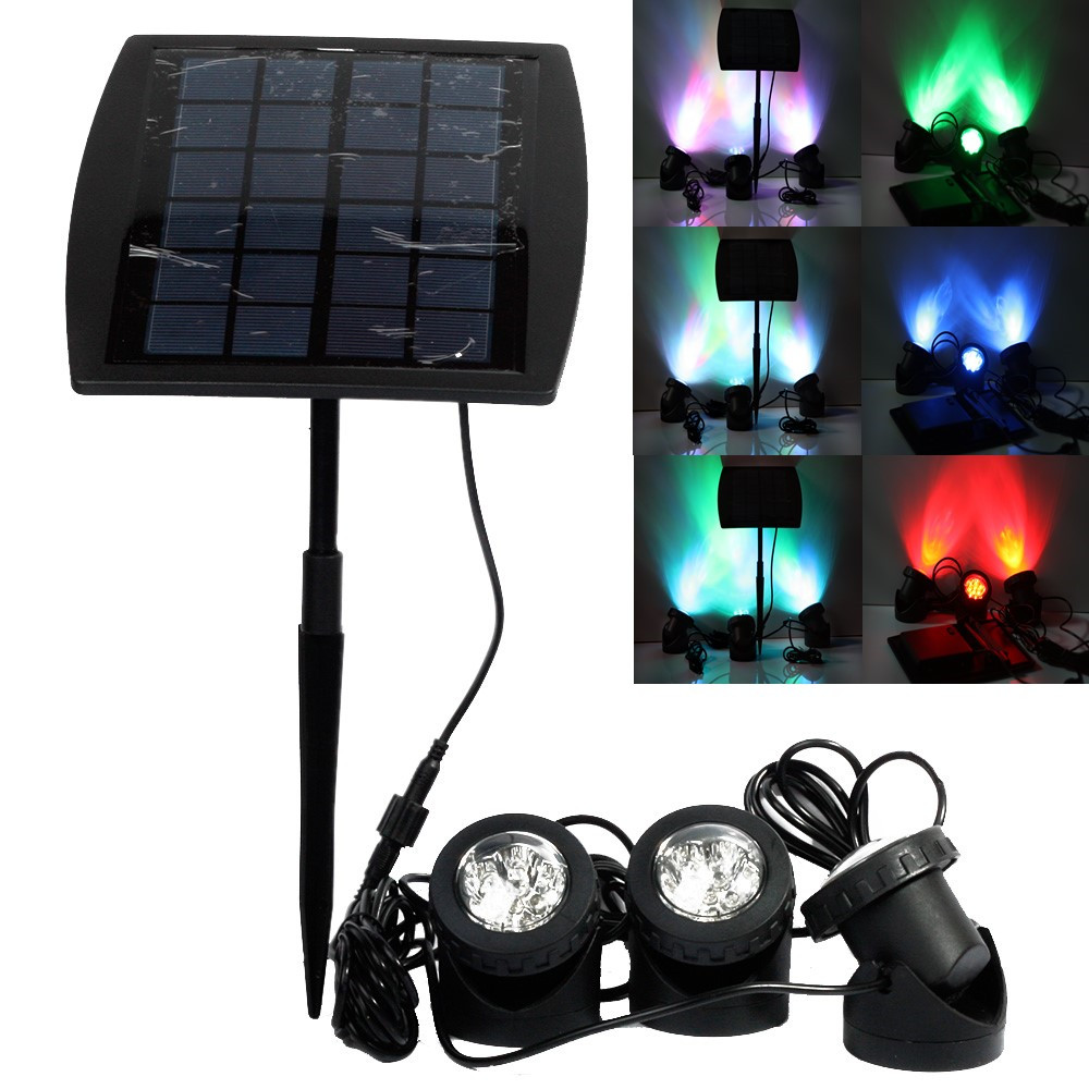 outdoor solar power led spotlight rgb cold white led landscape light. Black Bedroom Furniture Sets. Home Design Ideas