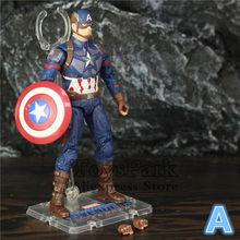 """Endgame 4 Marvel Avengers Filme Capitão América Thanos 6 """"~ 8"""" Action Figure Mijolnir Steve Rogers Lendas Spuer herói Boneca Brinquedos(China)"""