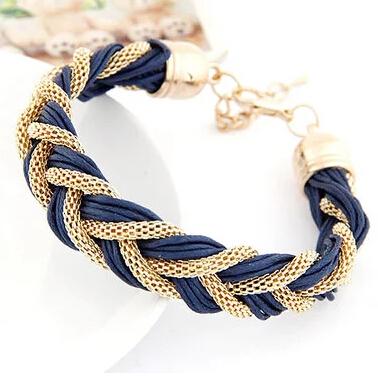 S205 4colors Korean Fashion Elegant ladies Simple wild metal chain rope preparation Bracelets Accessories fashion women - SEC International's store