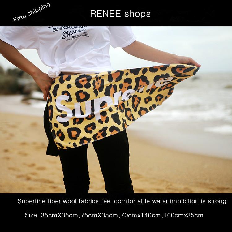 Superfine fiber fabrics Leopard grain supreme dance fitness basketball football cartoon towel bath towel custom make to order(China (Mainland))