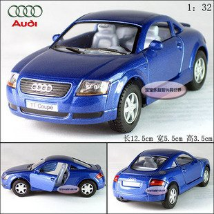 New AUDI TT Coupe 1:32 Alloy Diecast Car Model Toy Collection Blue B102c(China (Mainland))