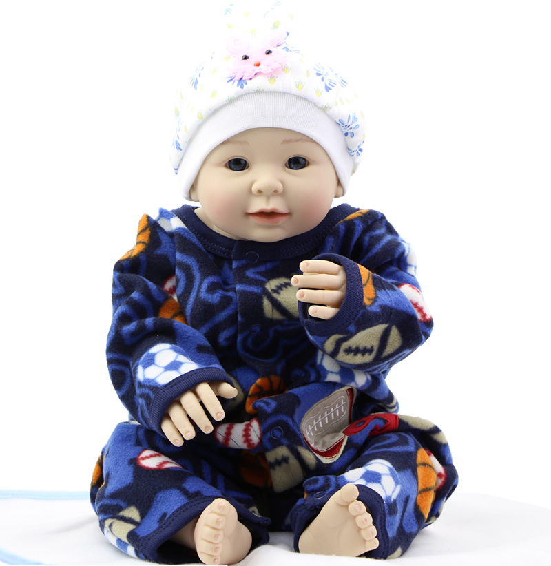 Soft Cute Baby Alive Doll Silicone NPK Doll Wth Shaven Head 22 Inch Reborn Baby Doll Can Lying And Sitting <br><br>Aliexpress