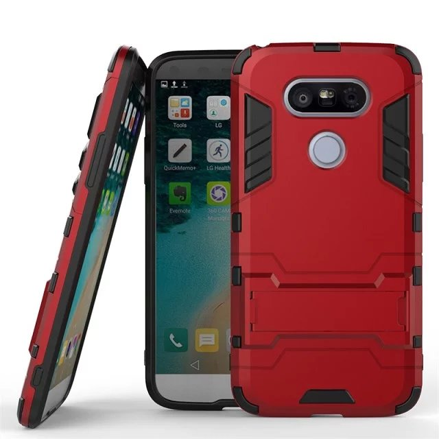 2016 Hot Sale ! Armor Case For LG Optimus G5 lg g5 Fashion Cover Mobile Phone Shell Protective Back Cases With Stand Design(China (Mainland))