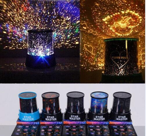2015 New Colorful 8 Style to Choose LED Cosmos Star Master Sky Starry Night Projector Light Lamp Kid's Good Gift free shipping(China (Mainland))