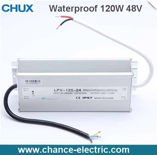 LED Water-Proof Type driver switching mode Power Supply SMPS 120w 48V (LPV-120W-48V)<br><br>Aliexpress
