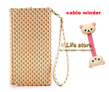 Card Wallet Lady Hand Strap Case Mobile Phone Leather Case+Cable Winder ZTE Nubia Prague S,ZTE Blade V7 Lite,ZTE - eForMobile Tina store