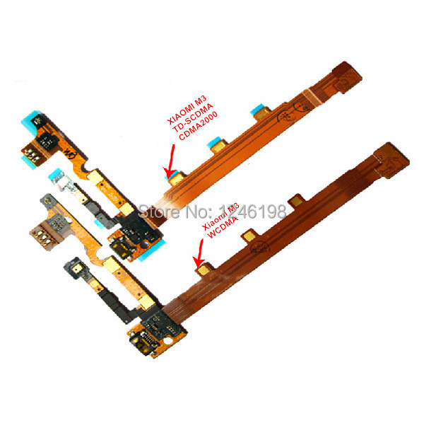 Micro Charging Port Flex Cable Xiaomi M3 Mi3 USB Dock Charger Connector Parts TD-SCDMA WCDMA - E-Source store