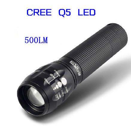 Фонарик New brand 7W 500Lm CREE Q5 3 18650 AAA CREE Q5 LED name brand 7 3 7 3 3 5 20