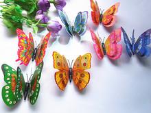 50 шт. порошок искусственный бабочка, холодильник украшение, магниты бабочка
