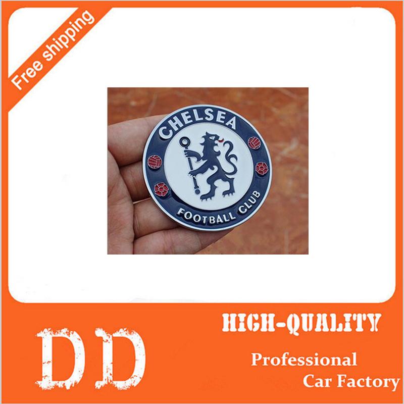 2pcs Metal Alloy Chelsea Football Club Logo Symbol Emblem Badge Soccer Team 3D Sticker Car Styling(China (Mainland))