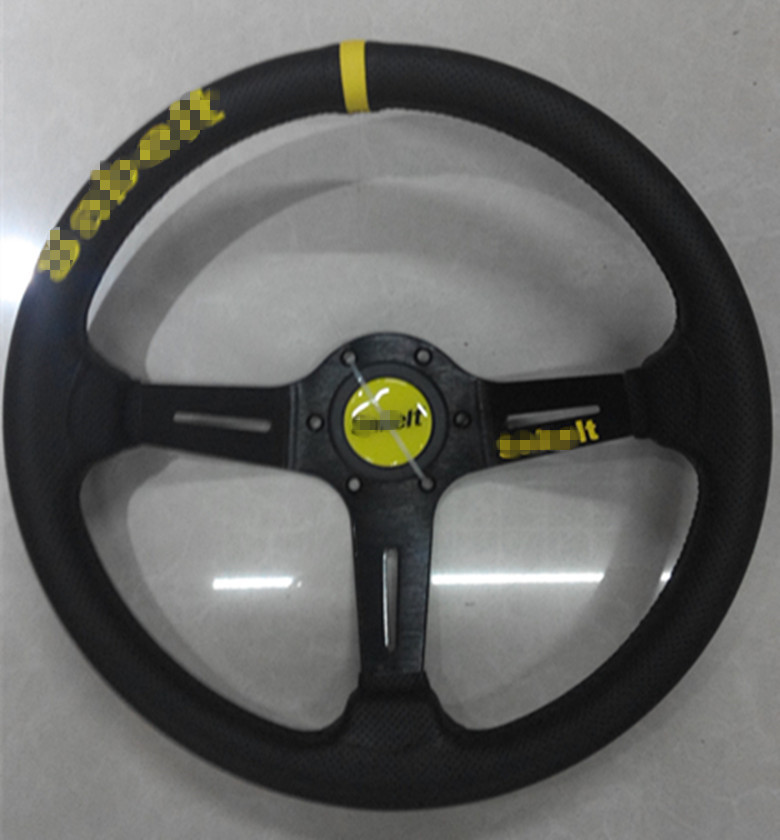 2015 steering wheel / 350mm racing Universal leather - Long Ridge fur waist store