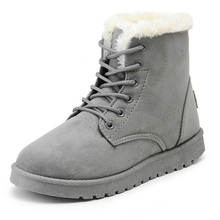 Women Winter Boots Suede Snow Ankle Boots Female Warm Winter Shoes Woman Round Toe Botas Mujer(China (Mainland))