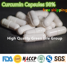 Buy Best 100pcs Curcumin Capsules 98% HPLC / Turmeric Capsules 98% antioxidant Heart Health Weight Loss free for $18.80 in AliExpress store