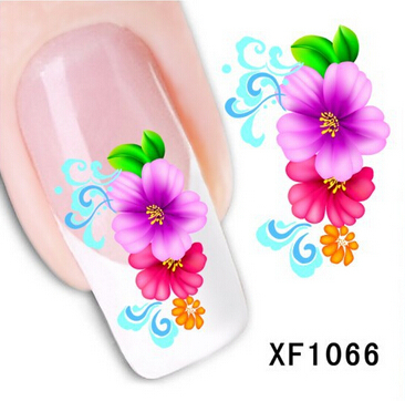 1sheets Water Transfer Stickers New Vintage Simple Flower Women Nail Art of Nail Stickers Decals Beauty Care Nail Tools XF1066(China (Mainland))