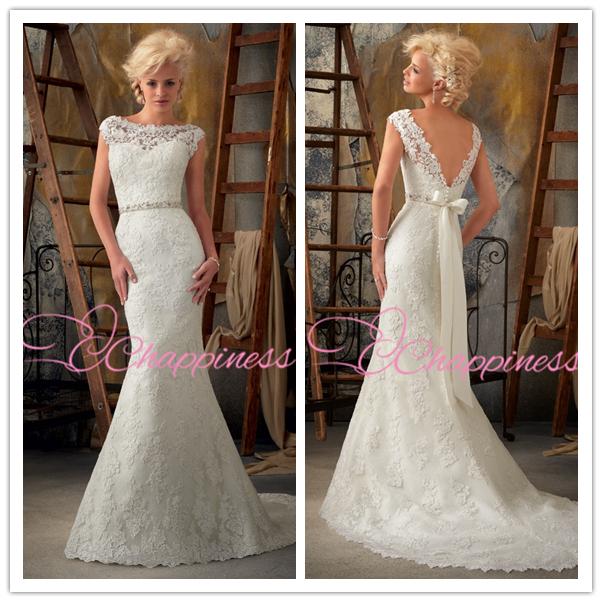 2015 Modern Lace Wedding Dress Floor Length Satin indian wedding dresses Elegant Lace bridal gown Vestidos de novia(China (Mainland))
