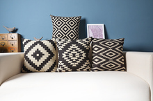 Nordic forest geometry linen cotton pillow cushion