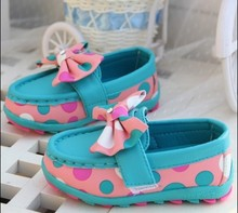 2015 new arrival baby shoes girls shoes leather princess shoes fashion baby sneakers size 21-25(China (Mainland))