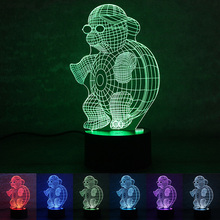 7 Colors Changing Sea Turtle Night Light Lamps 3D Touch Night Light for Children LED Luminaria Gradient Novelty Lighting(China (Mainland))